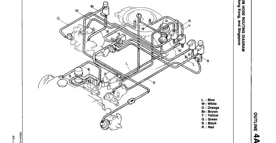 Схема вакуумных трубок мазда 626 2.0