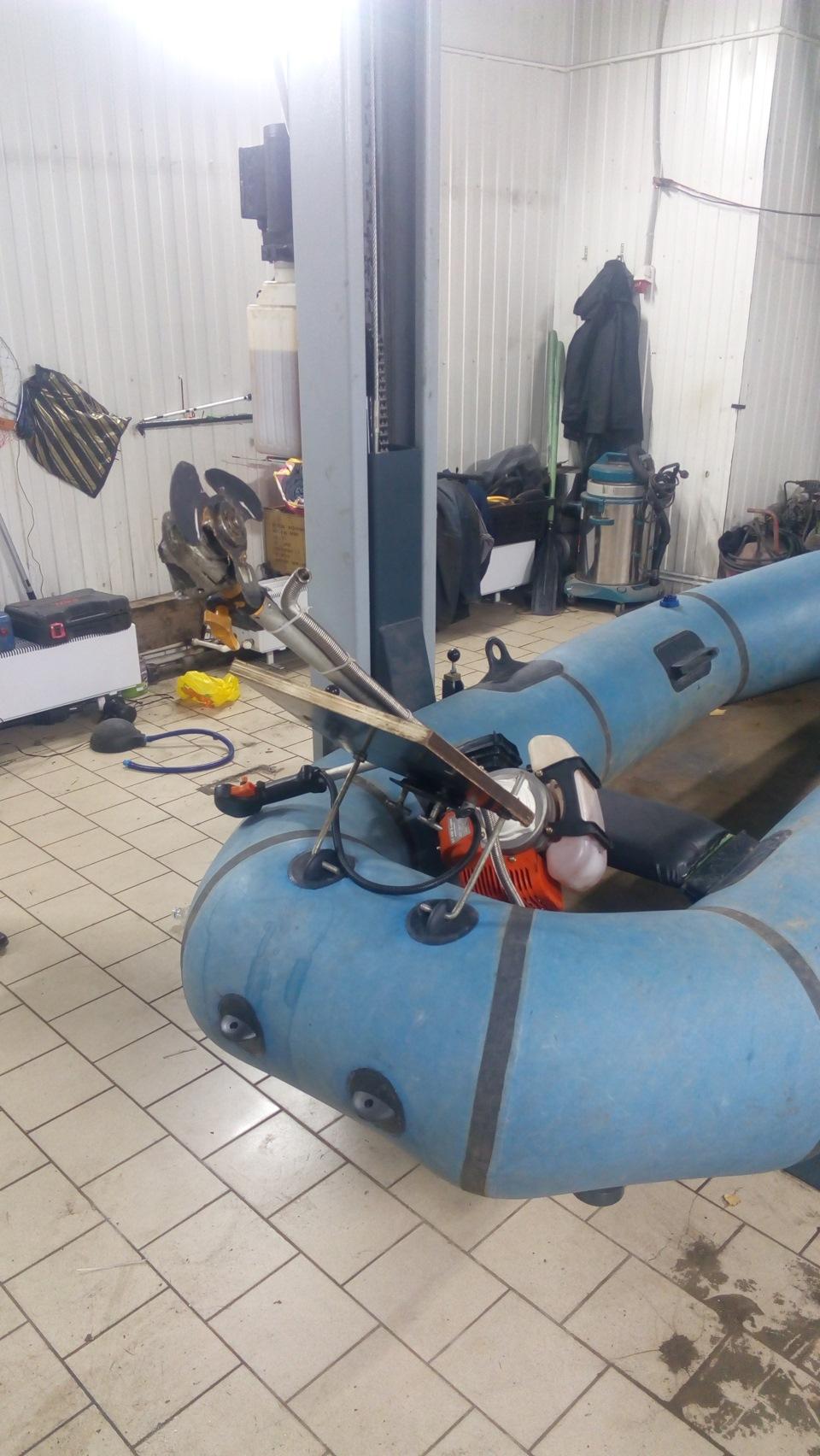 Самодельный лодочный мотор из бензопилы Сделай Сам www 96