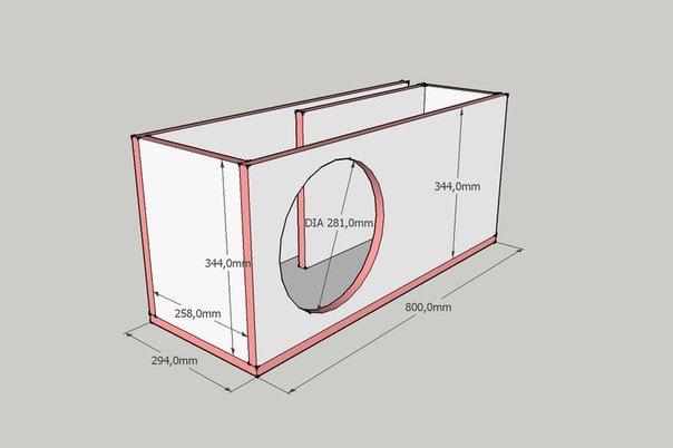 "Щелевой короб для 12"" сабвуфера Sony XS-GTR121L (2000w) - бортжурнал Лада Приора Хэтчбек Luxury 2014 года на DRIVE2"