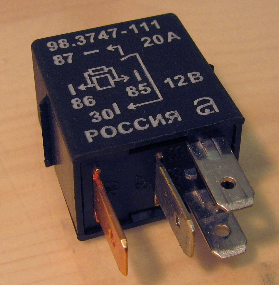 схема включения дхо на одном реле и однм транзисторе