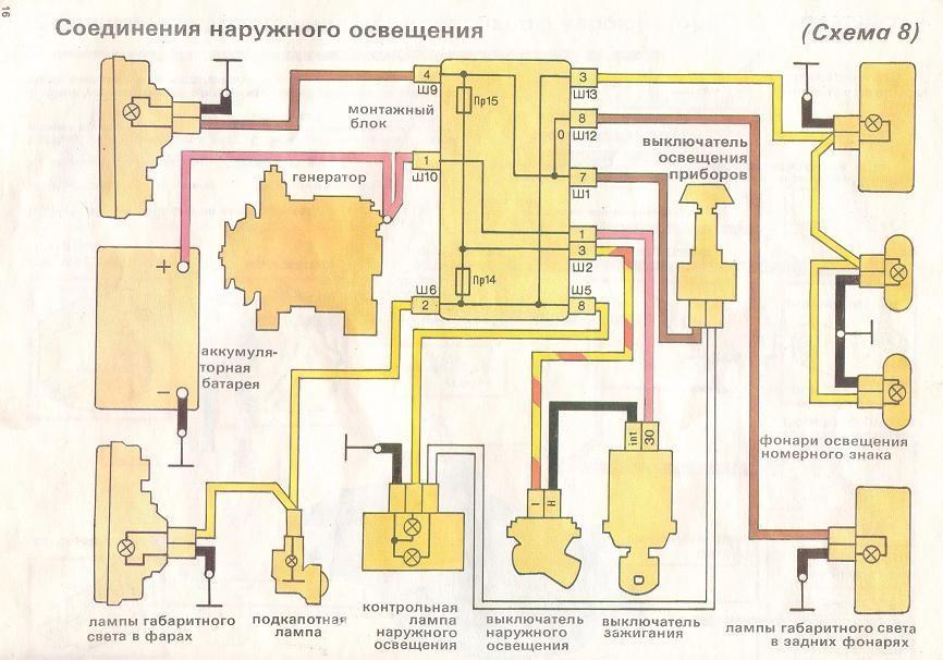 схема электро оборудования