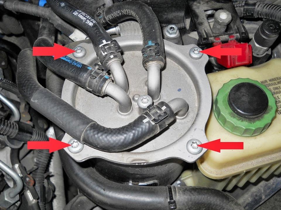 замена топливного фильтра на дизеле фольксваген