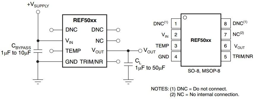 Схема REF5050