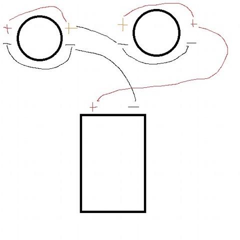 Попросили выложить схему подключения двух двухкатушечных сабов в 2 ома . вот собственно выложил.