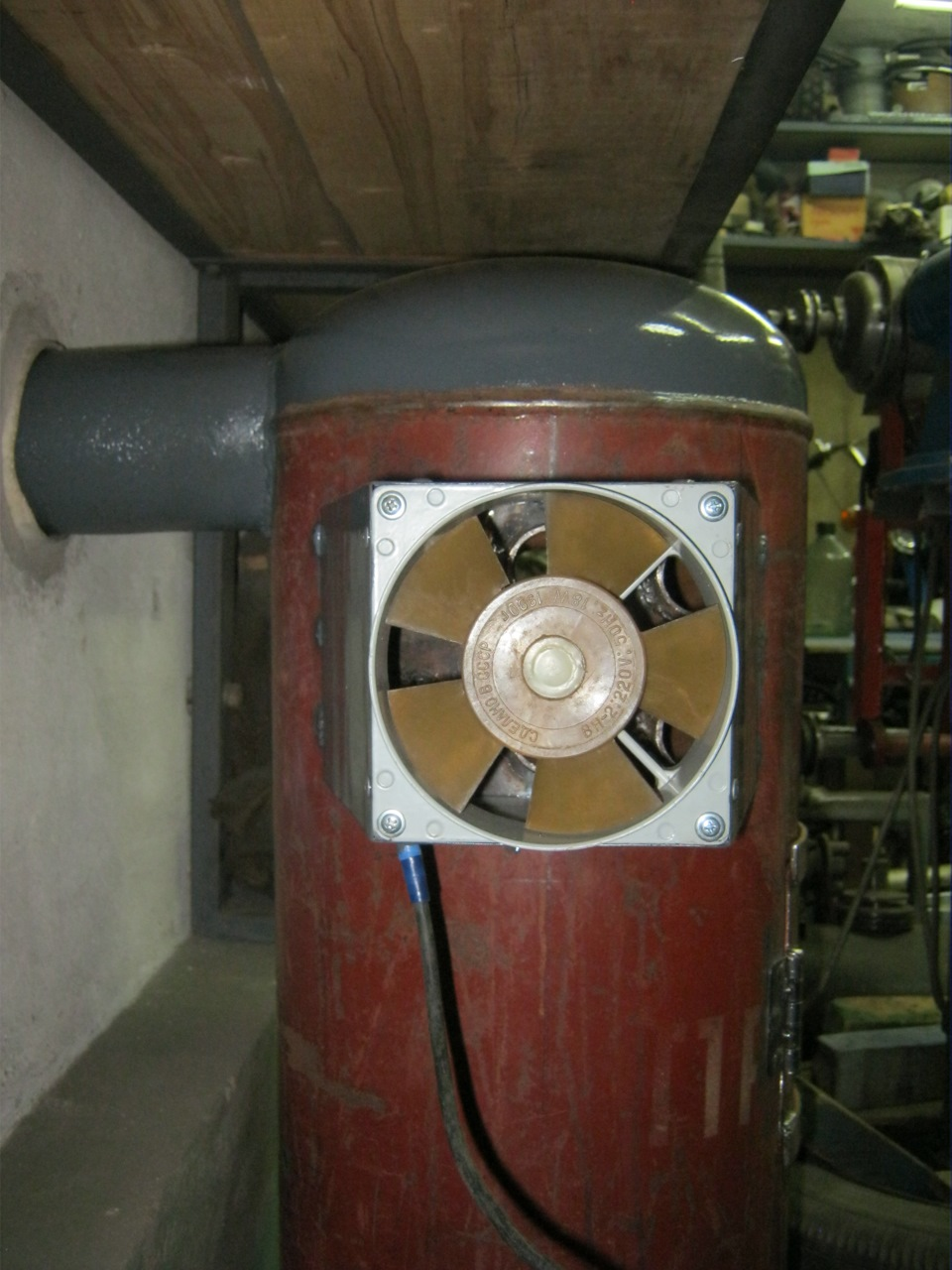 Вентилятор в гараж своими руками