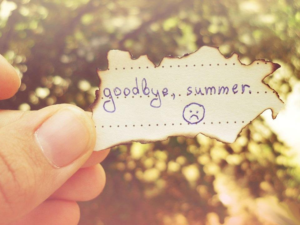 День, прощай лето картинки с надписями смешные