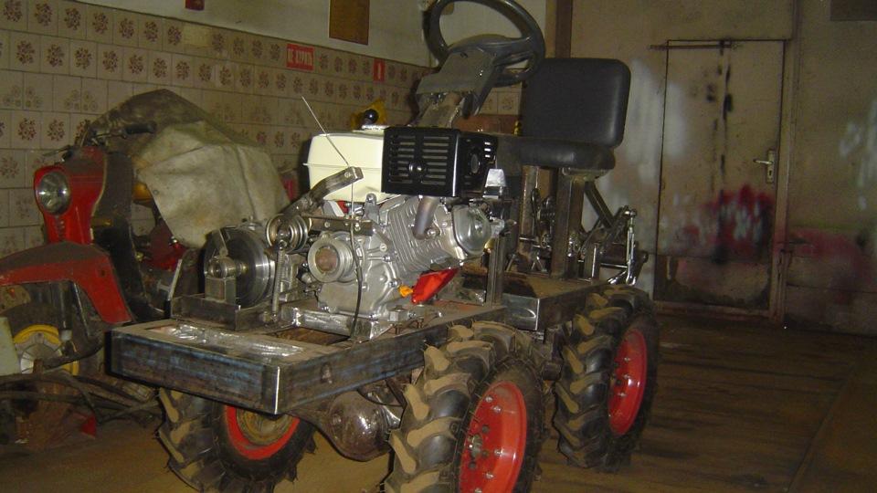 Минитрактор 4х4 переломка своими руками с двигателем