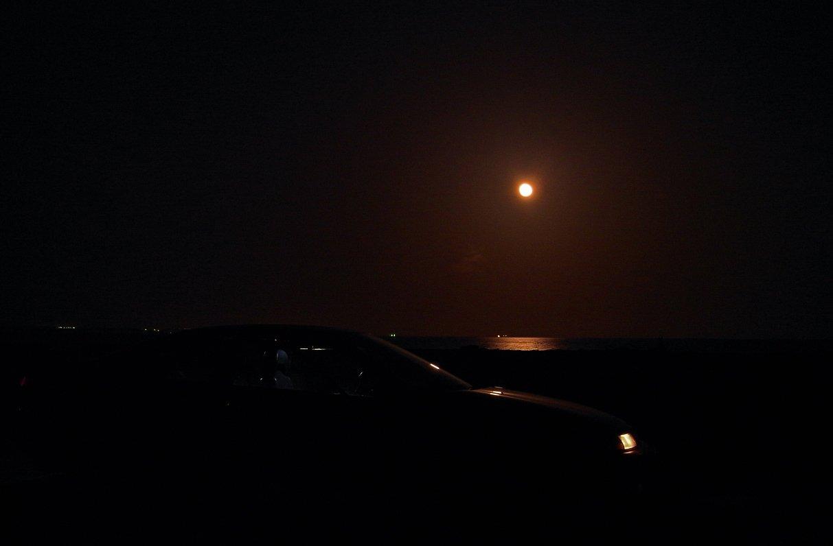 ночью море фото