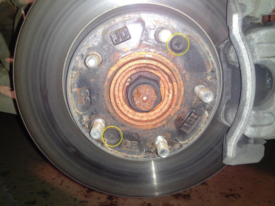 как снять тормозные диски для проточки на киа рио 2012