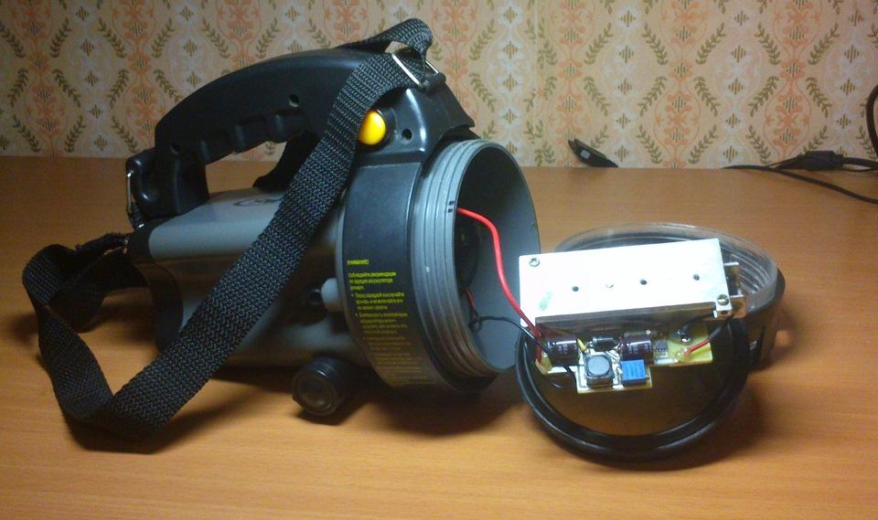 Аккумуляторный светодиодный фонарь своими руками