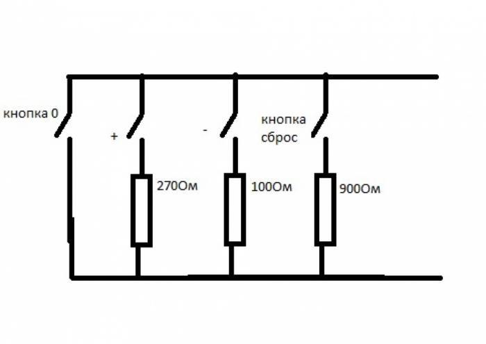 Схема кнопок управления круиз