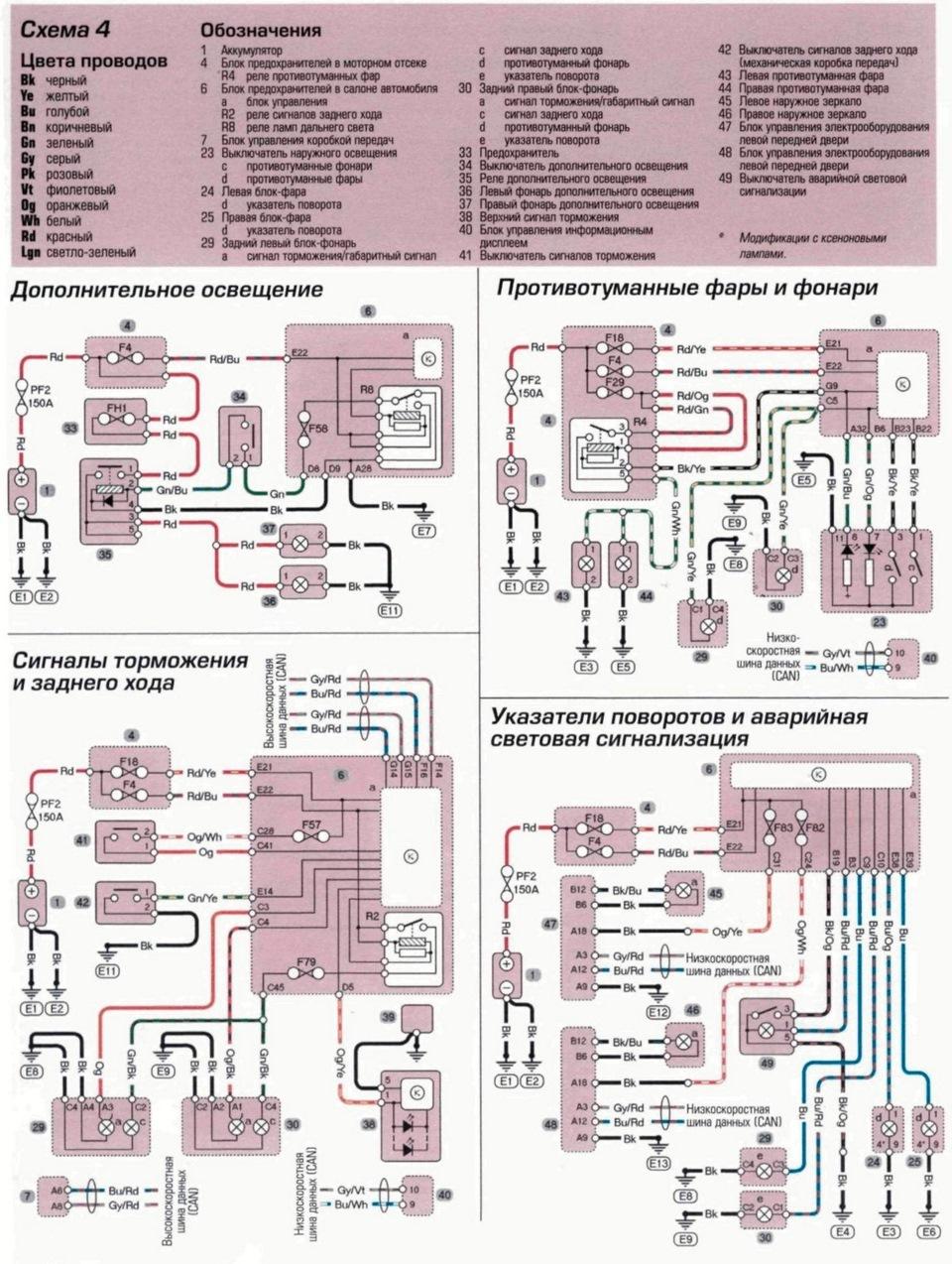 схема электрическая вольво 960 на русском языке