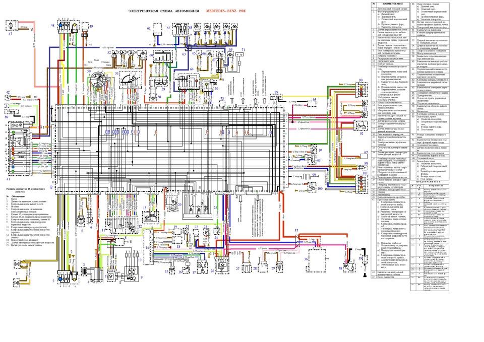 Электрическая схема MB 190E