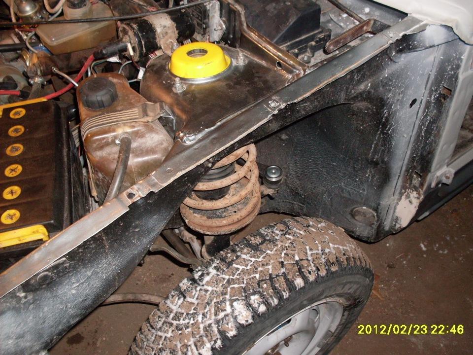 Фото №1 - ремонт передних стоек ВАЗ 2110