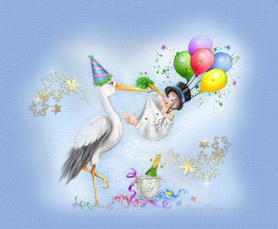 Днем, поздравления с новорожденными картинки