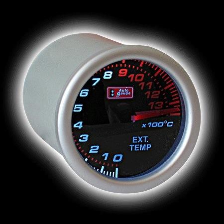 Приборы, Указатель температуры выхлопных газов (52мм), LEXUS style Приборы 2'' 52мм с тонированным стеклом 270 градус...