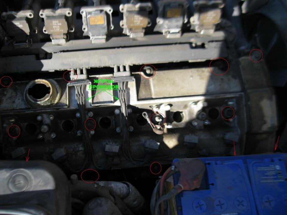 прокладка клапанной крышки на BMW e38