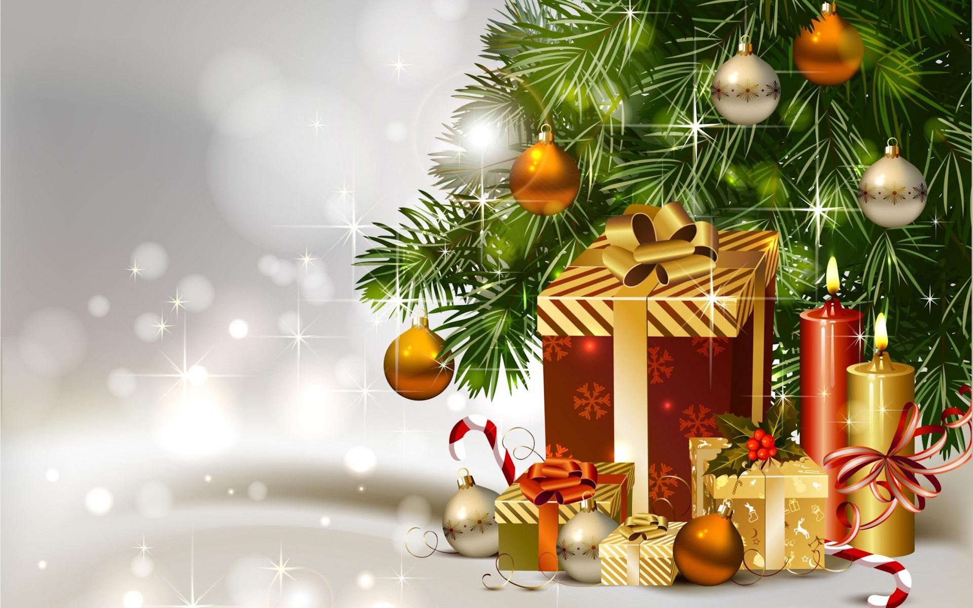 Павел день, открытки с новогодними елочками