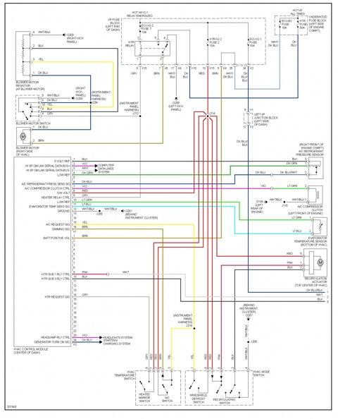 Схема ручной климатической установки от Toyota Corolla 2009.