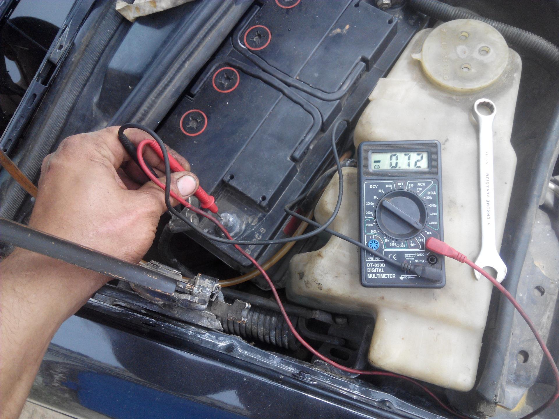 Аккумулятор не потребляет ток