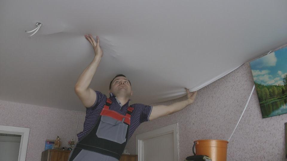 Фото натяжные потолки своими руками 1