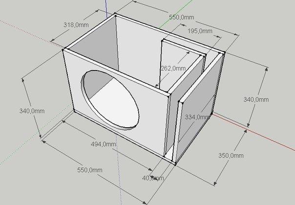 Как сделать короб для сабвуфера 12 дюймов своими руками