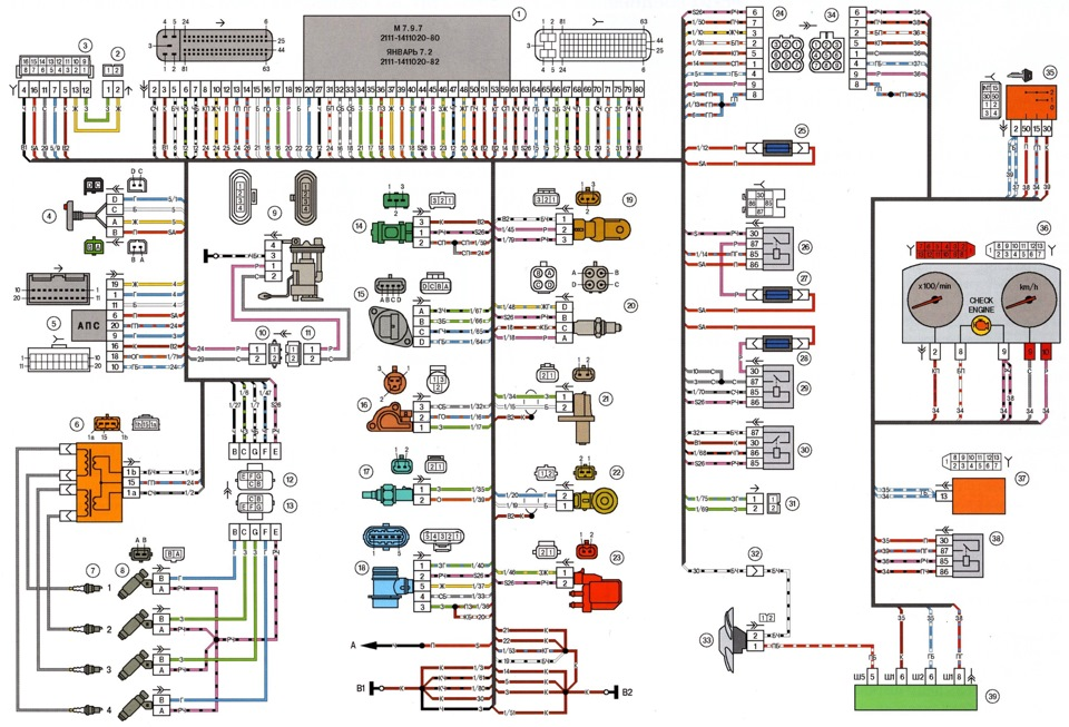 Электрическая схема 21214 инжектор фото 911