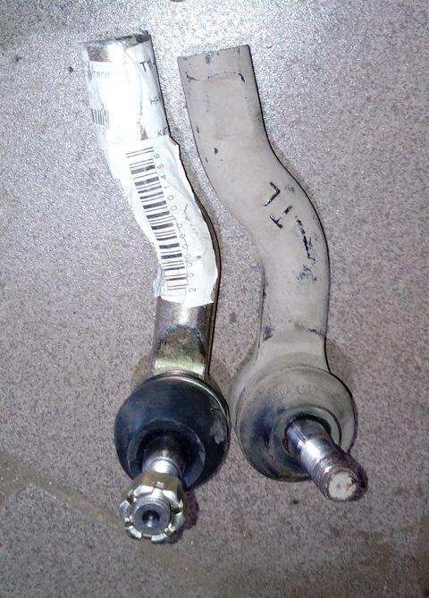 Как заменить рулевые наконечники на вортекс тинго