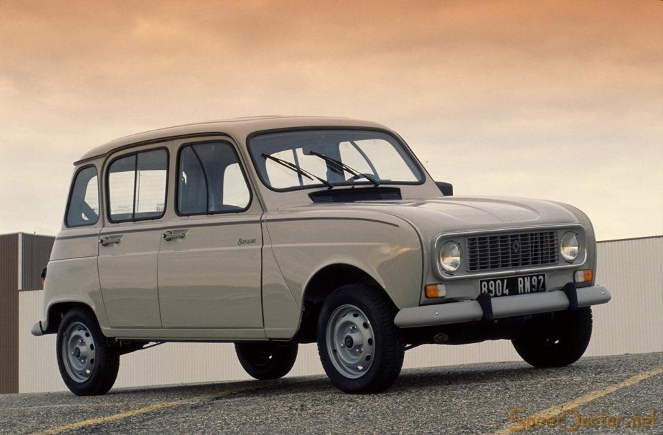 Renault 4 — один из самых популярных маленьких автомобилей в мире — было произведено 8 миллионов штук.