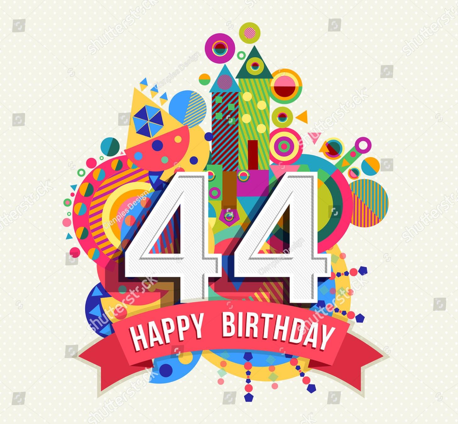 Поздравления с днем 44 летия женщине
