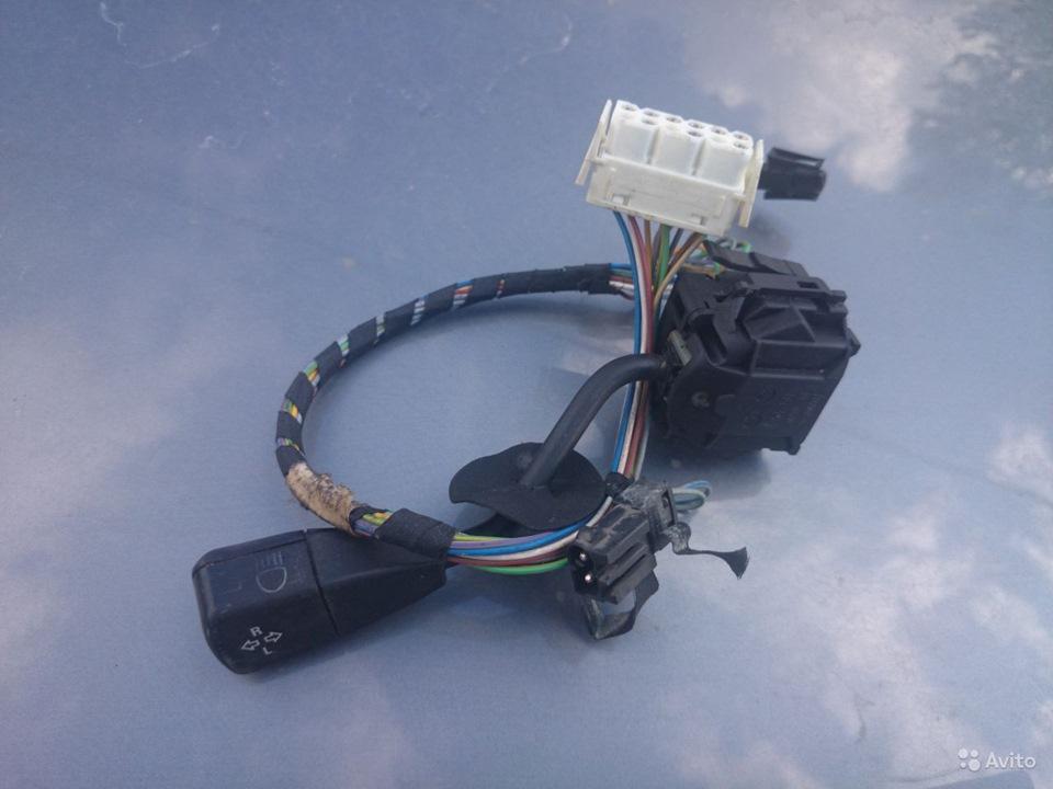 Подрулевой рычаг управления поворотниками, дальним светом и БК от БМВ Е34