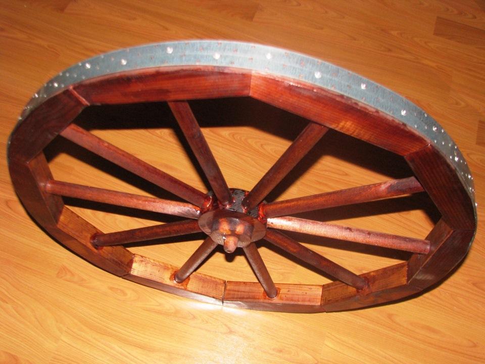 Как сделать декоративное колесо