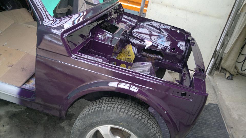 Покраска нива шевроле своими руками 91