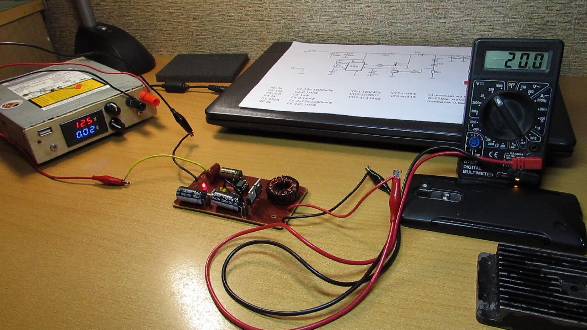 Импульсный блок питания (60Вт) на базе ШИМ UC3842