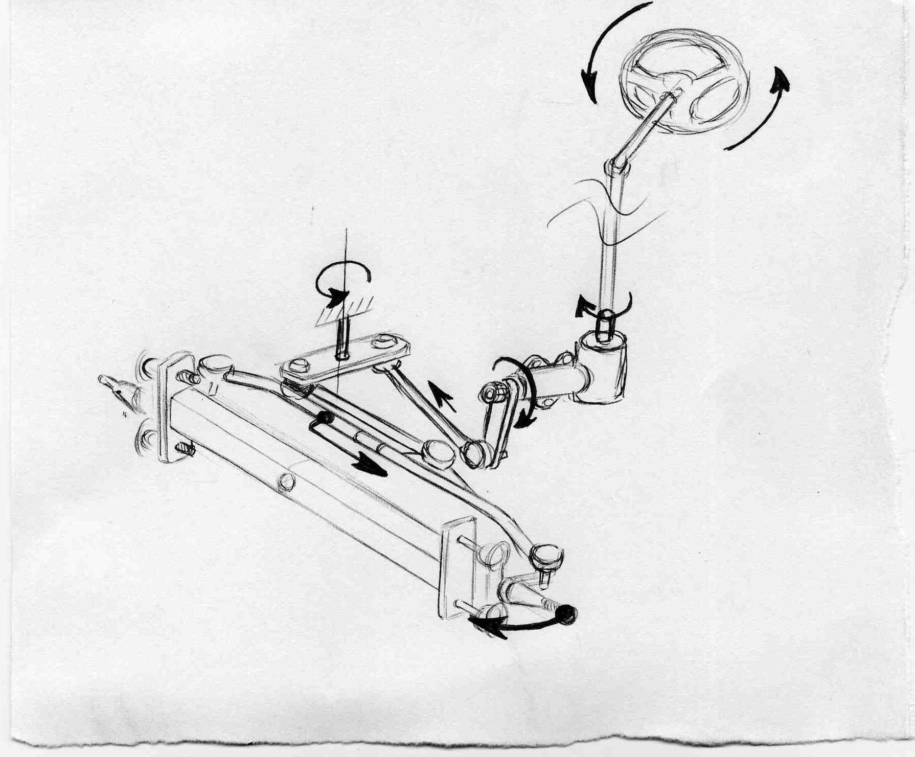 Рулевое управление своими руками на мотоблок чертежи 116