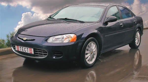 Chrysler Sebring, мощность — 152 л.с., разгон 0—100 км/ч за 11 с, макс.скорость — 180 км/ч, цена — 430 000 руб. * Автомобиль 2004 года