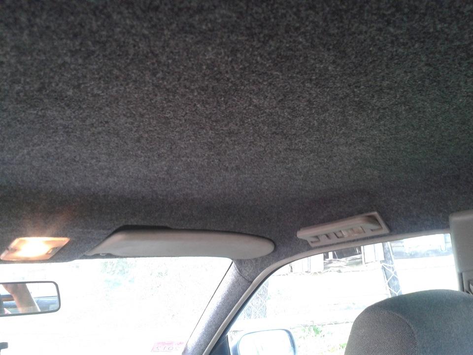 Перетяжка потолка карпетом - бортжурнал Audi 100 С4 2.0E AAD 1991 года на DRIVE2