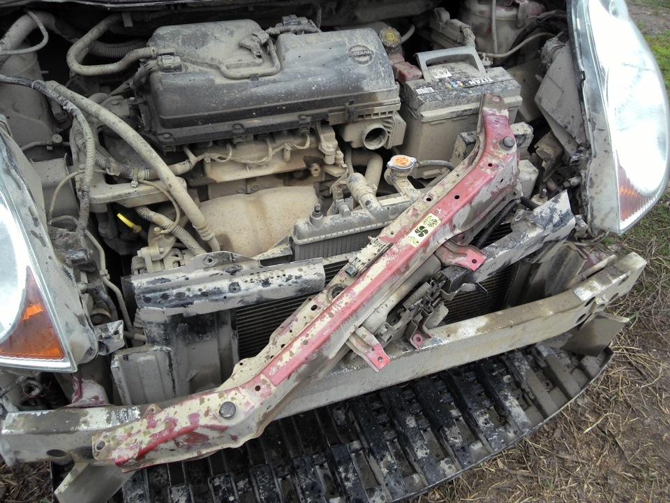 нижняя часть радиатора авто ниссан ноте фото