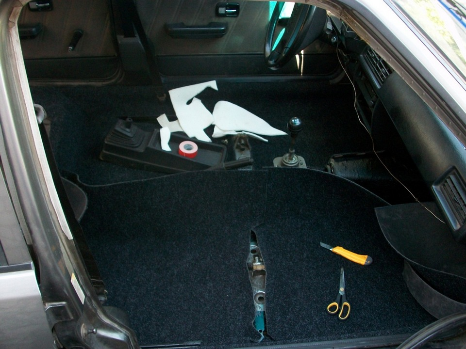 Замена ковролина в авто своими руками 25