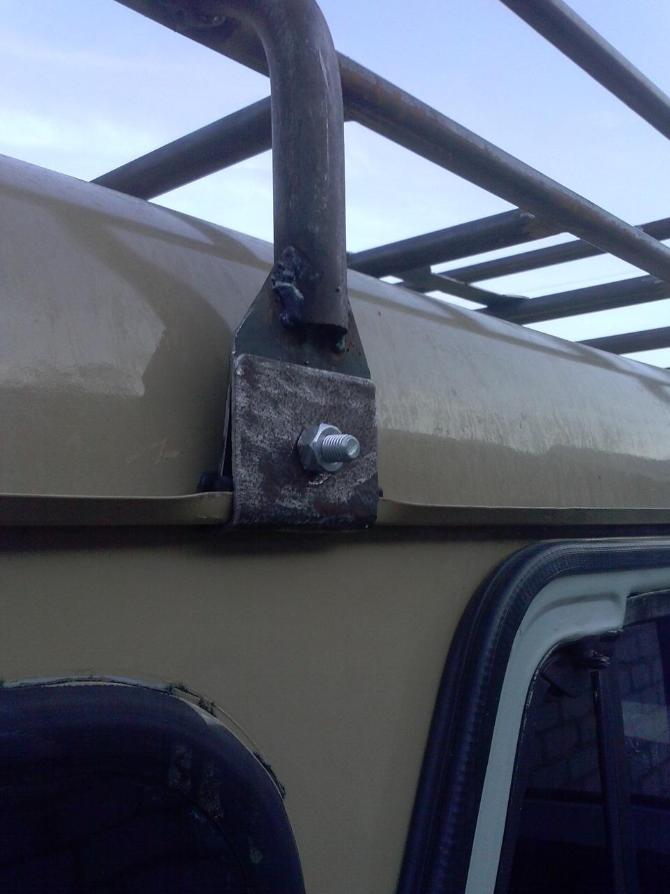 Крепление багажника на крышу своими руками фото