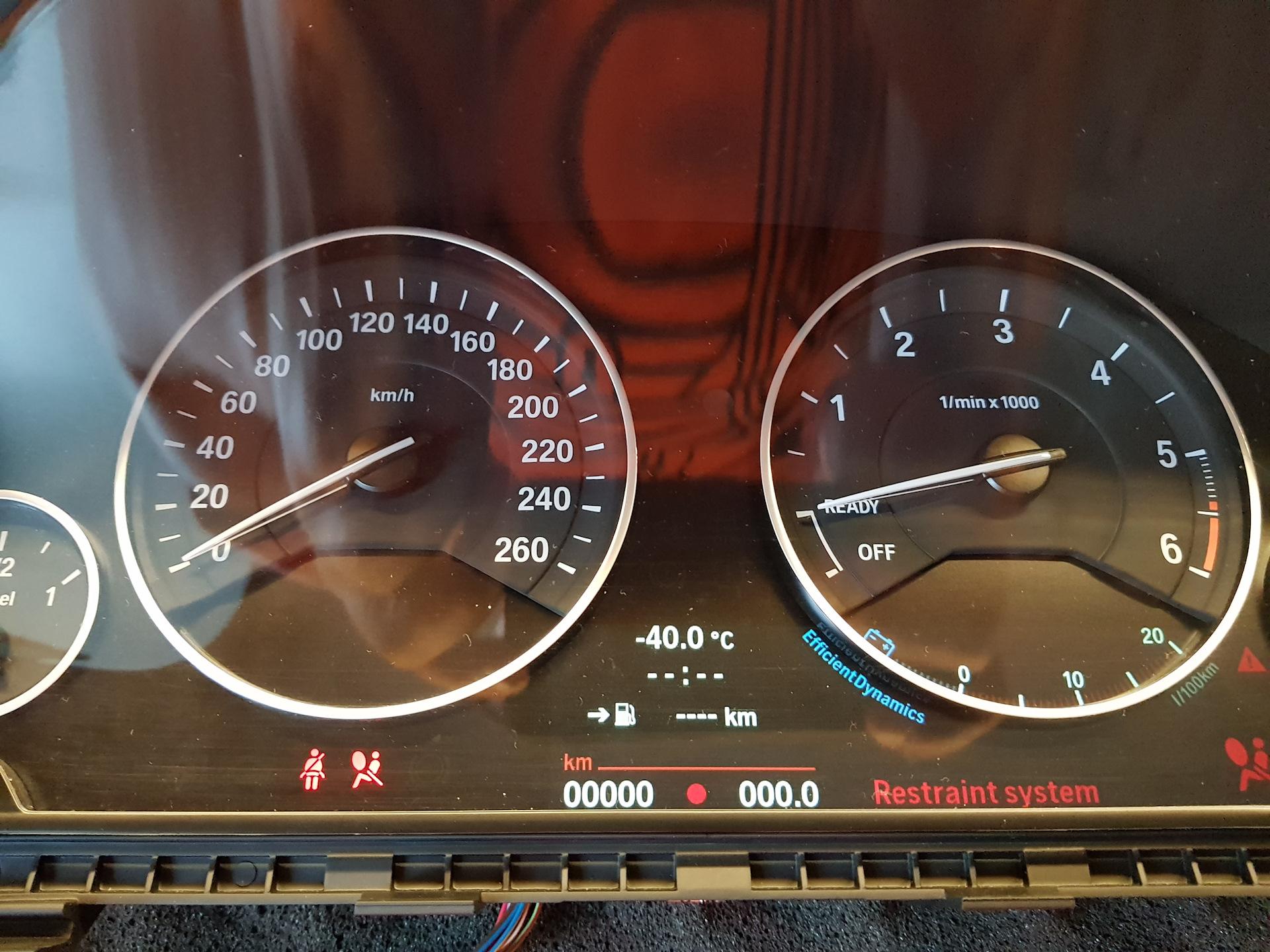Расширенная панель приборов, BMW F30 (6WA)  Эмулятор Speed