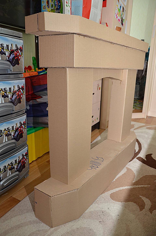 Мебель из картонных коробок своими руками фото7