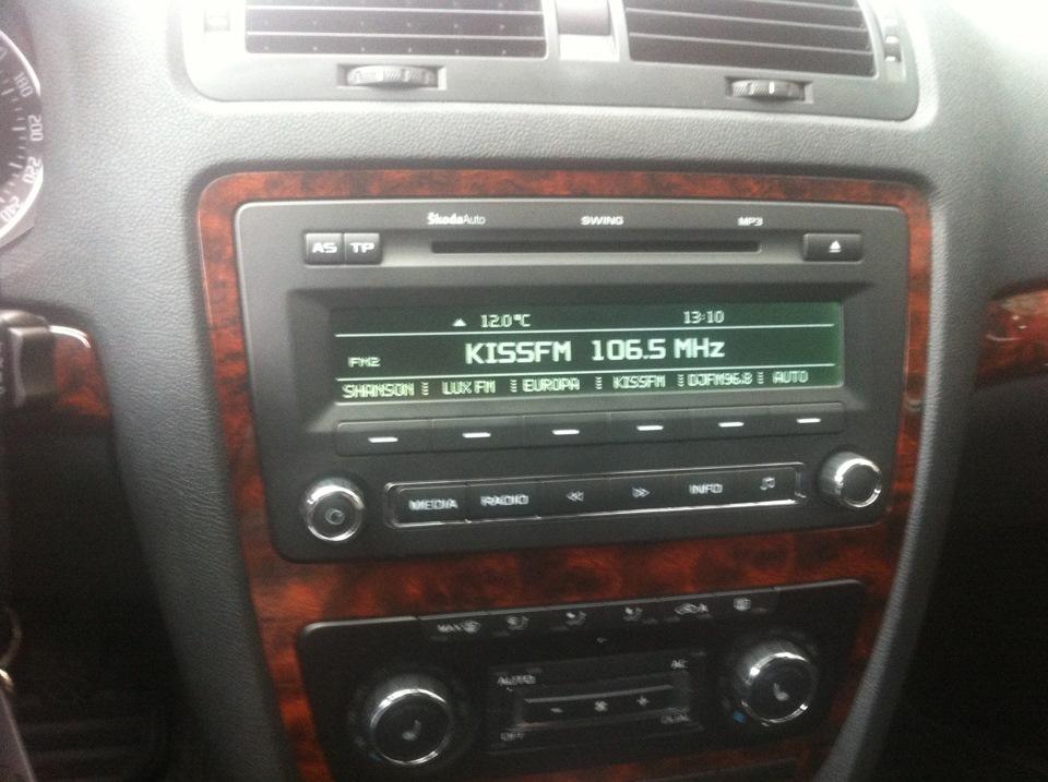 замена штатной аудиосистемы skoda octavia a5