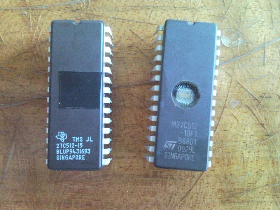 микросхемы 27с512 с УФ