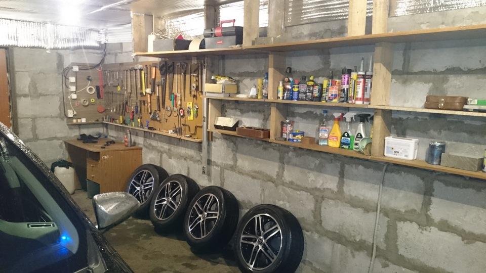 Стеллаж в гараже своими руками фото