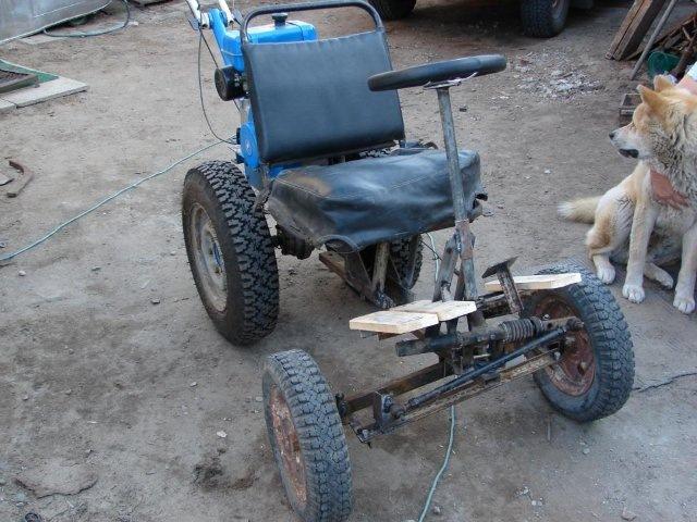 Адаптер с рулем для мотоблока своими руками