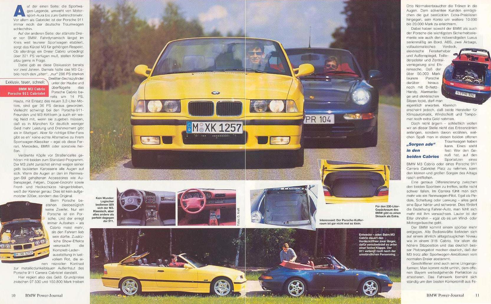 E36 M3 Cabrio Vs 993 Carrera Cabriolet перевод Bmw Power Journal