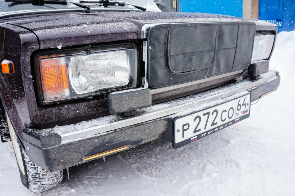 Чехол решетки радиатора ВАЗ-2107 - бортжурнал Лада 2107 LED_HD_sollaris 64RUS 2009 года на DRIVE2