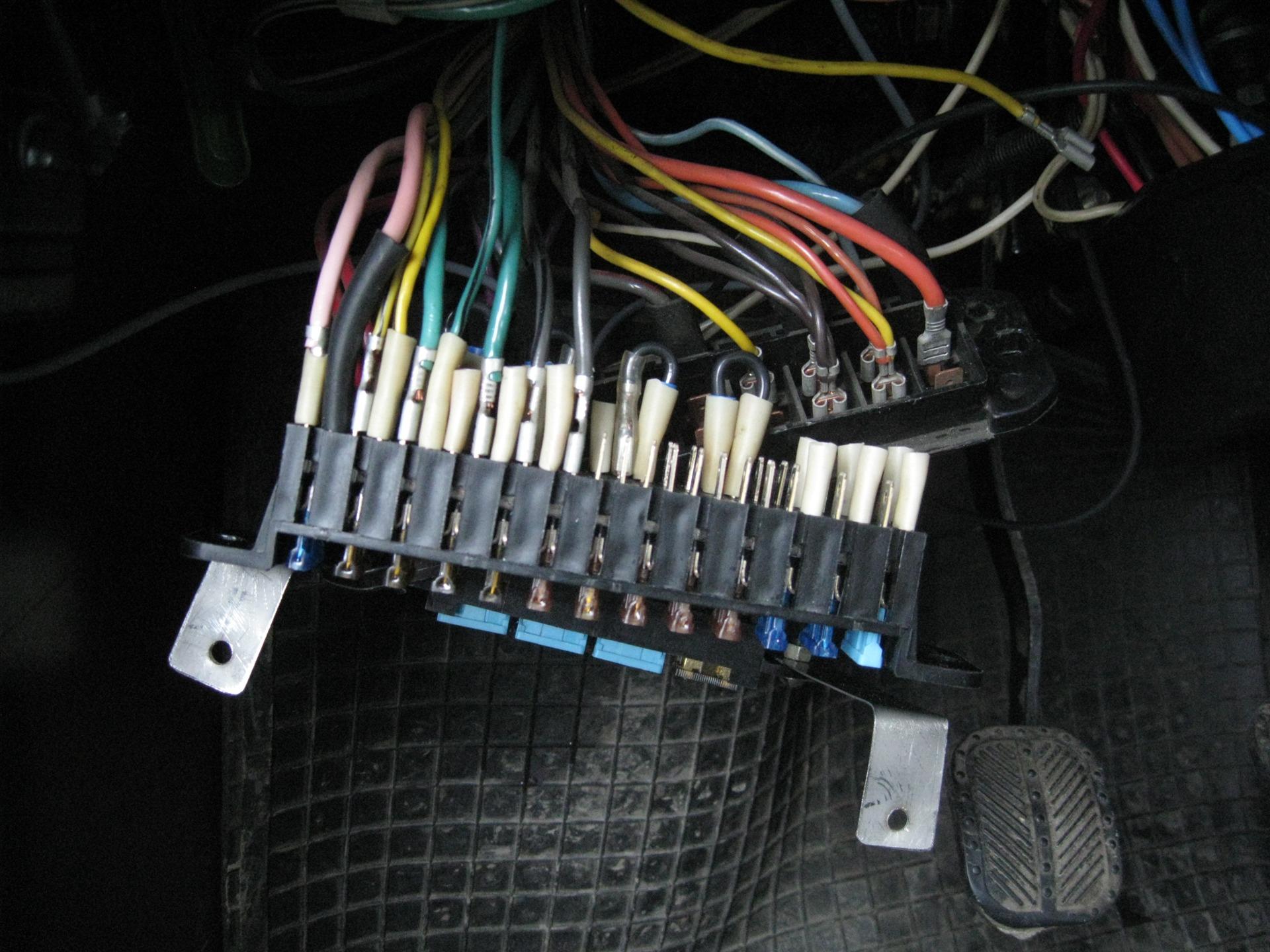 жигули 01 схема подключения предохранителей