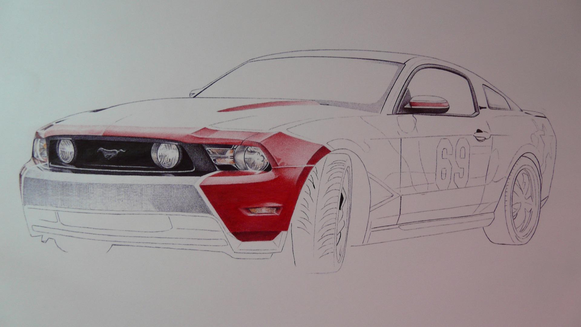 картинки машины которые нарисовали